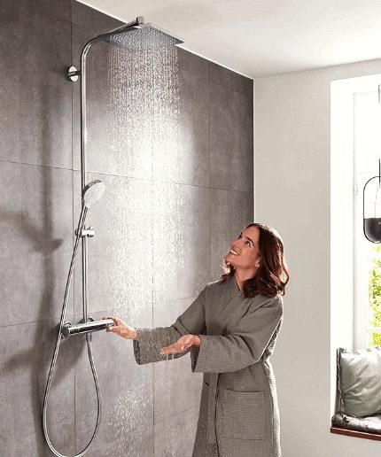 columnas de ducha termostáticas