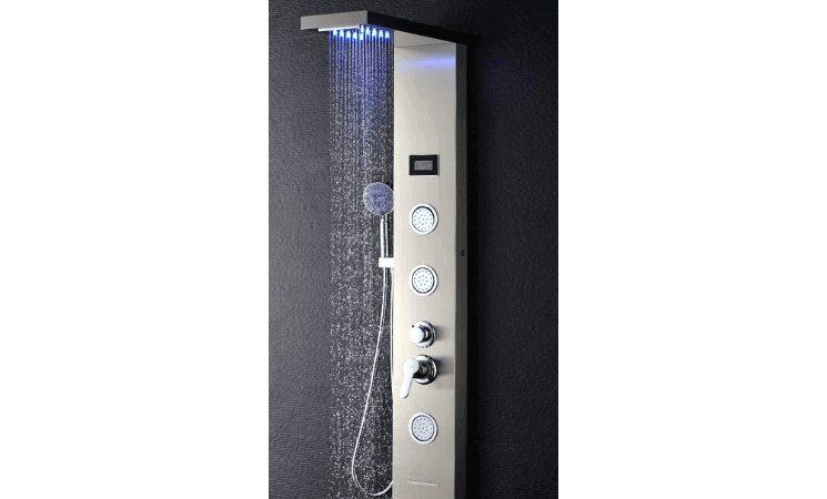 Obeeonr Columna hidromasaje para ducha con LED