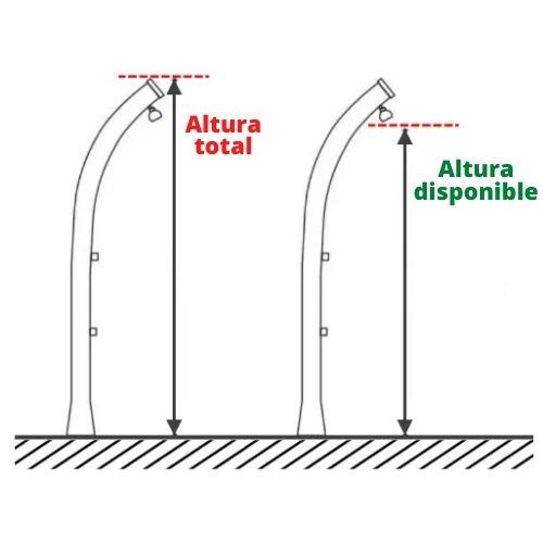 altura duchas solares