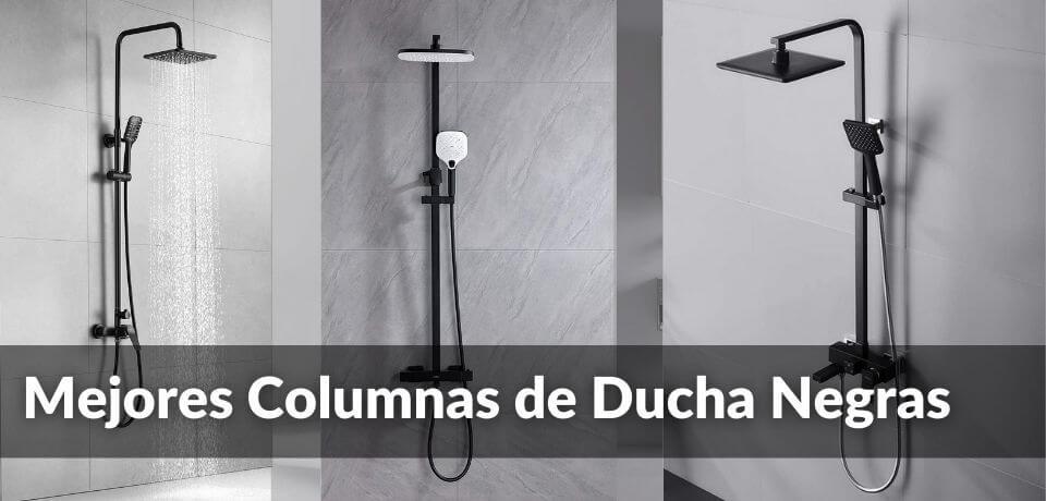 columnas de ducha negras